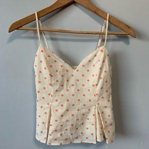 New Zara Polka Dots Crop Top